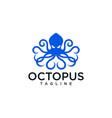 octopus logo design templates stock vector image vector image