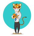 office tiger vector image