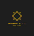 oriental hotel logo with oriental eastern outline vector image vector image