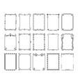 ornamental borders vintage frames with flourish vector image vector image