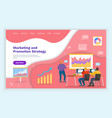 people advertising promotion landing page vector image vector image