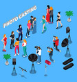 photo casting isometric composition vector image