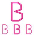 Pink b letter logo design set
