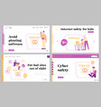pirate content free download landing page template vector image