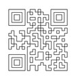 qr code the black color icon vector image vector image