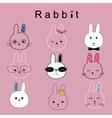 rabbit cartoon vector image vector image