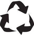 recycle sign icon arrow icon recycling vector image vector image