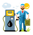 refueller man flat style colorful cartoon vector image vector image