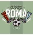 Rome Derby In Italian Label Design Soccer Boots vector image vector image