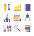 school and office stationery vector image vector image