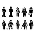 scuba diving dive deep sea spacesuit biohazard vector image vector image