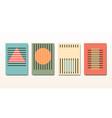 set minimal 20s vintage geometric design bauhaus vector image vector image