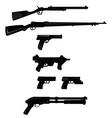 Set of guns vector image vector image