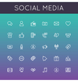 Social Media Line Icons vector image