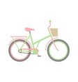 Stylish womens green bicycle isolated on white vector image vector image