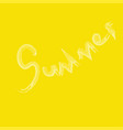 summer on a yellow background vector image