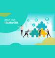 teamwork business vector image