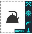 teapot kettle icon flat vector image
