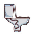 toilet plumbing equipment service repair vector image