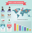 Trader import and export infographic vector image