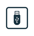 usb icon Rounded squares button vector image vector image