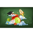 Wake up to school background vector image