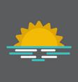 wavy sea sunset or sunrise vector image vector image