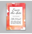 wedding invitation card with watercolor vector image vector image