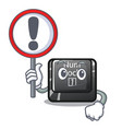 with sign num lock isolated with character vector image