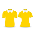 yellow polo shirt outline vector image vector image