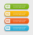 colorful realistic web buttons vector image