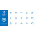 15 decorative icons vector image vector image