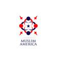 america muslim logo design symbol icon vector image vector image