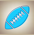 american simple football ball sky blue vector image vector image