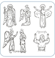 Angels and saints - vector image