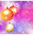 Background with Christmas balls EPS 10 vector image