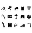 Basketball Icons set vector image vector image