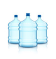 big bottle with clean water plastic container for vector image