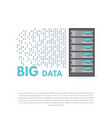 big data banner vector image vector image