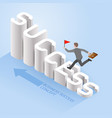 business success concepts businessman running up vector image