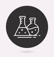 chemistry - icon isolated vector image