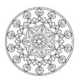 Circle mandala coloring book for adults vector image