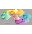 Circles and arrows infographic vector image vector image