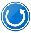 circular arrow roundabout road sign vector image