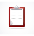 clipboard icon Flat Design vector image