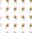 Coffee latte seamless pattern
