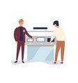 consumer at electronics store flat vector image