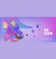 creative geometric wallpaper trendy gradient vector image vector image