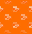 database and brick wall pattern seamless vector image vector image