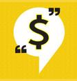 dollar sign money icon vector image vector image